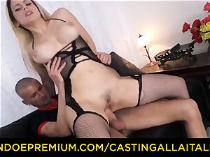 casting ALLA ITALIANA - busty Italian blond culo penetrated