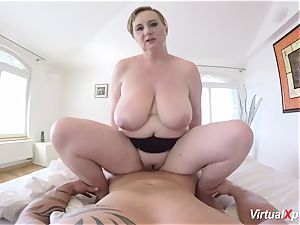 super-steamy pov fuck-fest with big-boobed stepmom