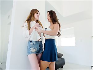 Minge lovin Abigail Mac and Miley Cole poon have fun