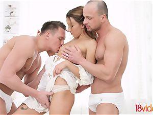 legitimate Videoz - Katrin Tequila - All-white home dp party