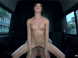 BumsBus - German Anny Aurora disrobe and fucks in the van
