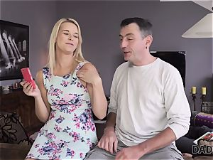 DADDY4K. father and youthfull dame enjoy anal invasion fucky-fucky near his sleeping sonny