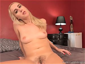 Cadence Lux Has Her spouse suck man rod and gobble cum