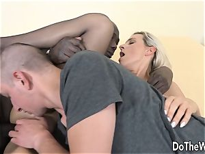 Bianca Ferreros a-hole is wrecked with black man meat