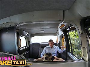 gal fake cab super hot goth woman tastes drivers cunt