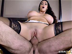 enormous boobed Alison Tyler ravages her paramour as she speaks to her man