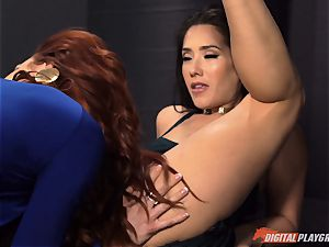 cooch tonguing galore with naughty Jayden Cole and Eva Lovia