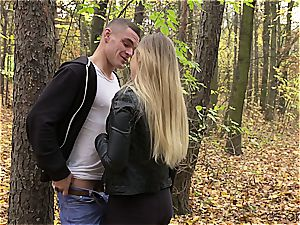 Russian couple has a spunky afternoon enjoyment
