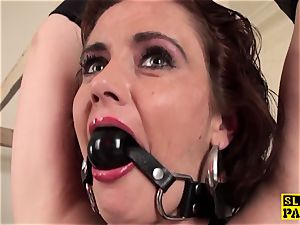 red-haired british gimp ass-fucked and trussed