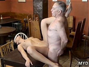 old physician plow young witnessed his daddy and his girlpatron nude on a table in the middle of