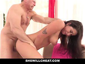 SheWillCheat hotwife girlfriend Karlee Grey penetrates Trainer