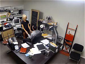 Katerina Kay keeps her job by smashing the chief