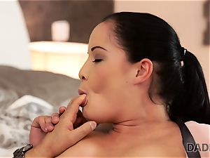 DADDY4K. dad s older penis prettily slips into beaver of nubile Dolly Diore