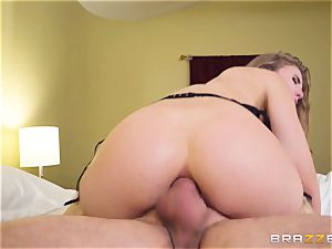 gliding man meat and jism down the booty of Lena Paul