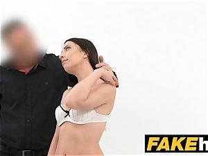 fake Agent virginal fantastic brown-haired enjoys fellating
