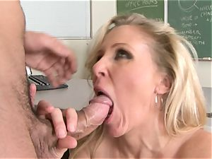 Julia Ann is a gonzo milf who wants to put her cootchie on a stiff trouser snake