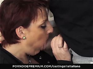 casting ALLA ITALIANA Mature red-haired backside ravaged deep