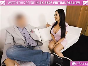 VR pornography - Thanksgiving Dinner becomes a mischievous threesome
