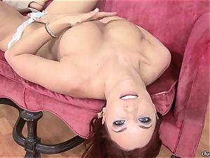 Jayden Cole whips out her delicious plump breasts
