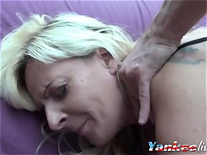 French mummy Gets Both vagina And butt smash stiff
