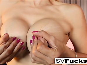 Sarah Vandella gets screwed rock-hard