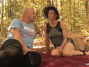 LA rookie - French mature beginner ass fucking pulverized outdoors