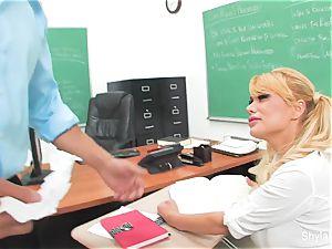 Bad schoolgirl Shyla gets ravaged by her instructor