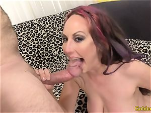 horny cougar jacks Then Takes a prick