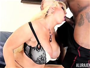 yam-sized big black cock Alura Jenson crammed deep