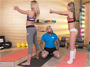 sport apartments naughty ladies tempt ginormous pink cigar gym trainer
